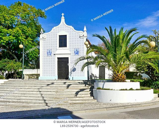 Church Nossa Senora das Febres with Azulejo facade, Aveiro, Portugal, Europe