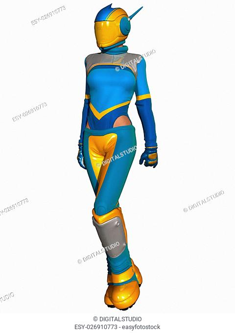 3D Render of an Fantasy Race Suit