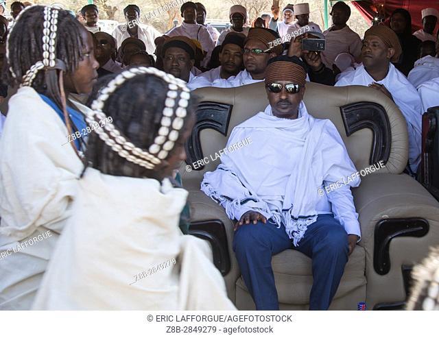 Oromia state president Lemma Megerssa during the Gada system ceremony in Borana tribe, Oromia, Yabelo, Ethiopia