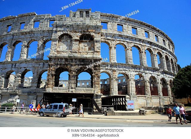 Roman arena colosseum, Pula, Istria county, Croatia