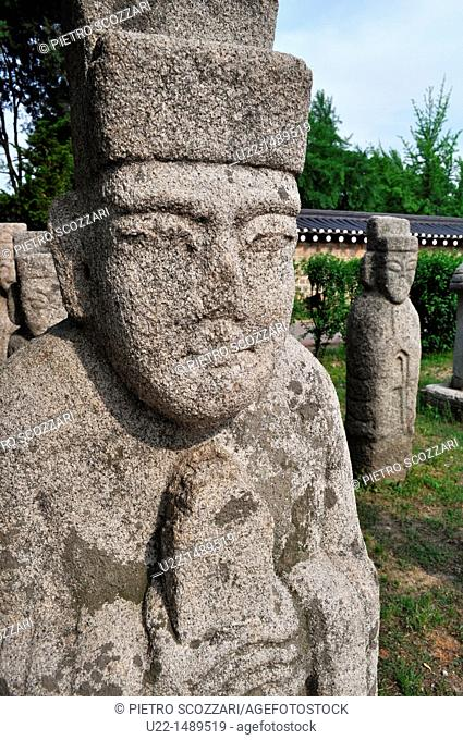 Seoul (South Korea): stone statues by the National Folk Museum; usually put at the entrance of a village or on the roadside
