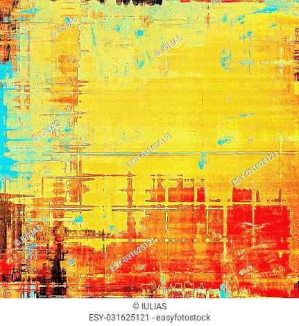 Old antique texture (for background). With different color patterns: yellow (beige); blue; brown; red (orange)