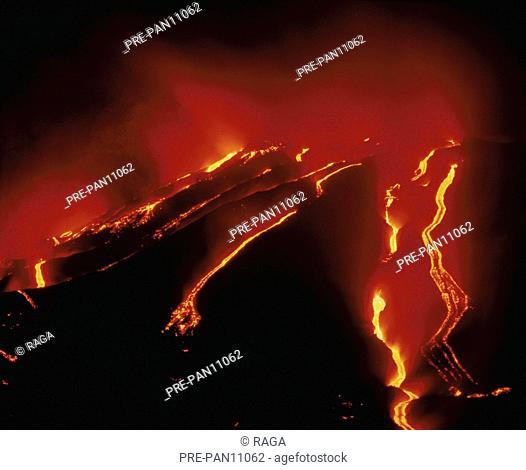 Sizilien Ätna Vulkanausbruch Lava