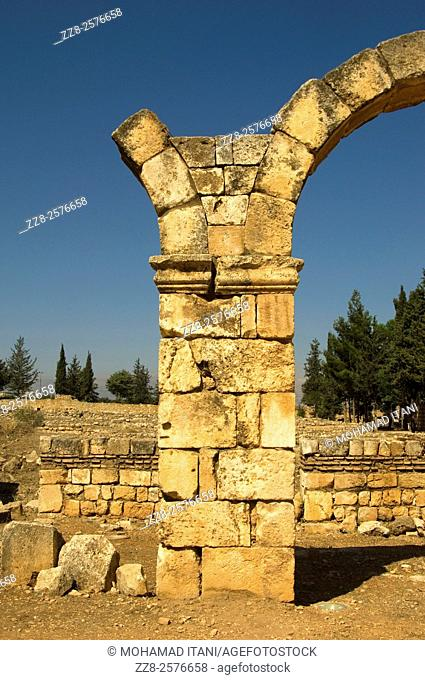 Anjar Castle Lebanon Middle East