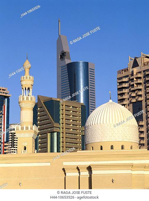 10653526, Dubai, UAE, Arab Emirates, Middle East, modern, mosque, East, Satwa District, skyline, town, city, united Arab Emira