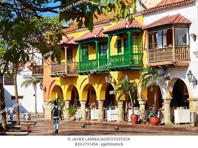 Plaza de Los Coches, Cartagena de Indias, Bolivar, Colombia, South America
