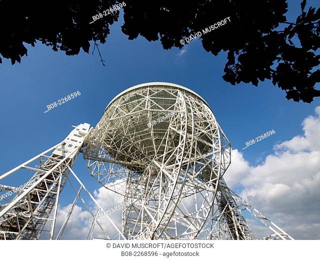 Lovell Telescope at Jodrell Bank Observatory,Cheshire, UK