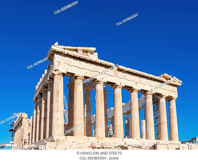 Parthenon of the acropolis, Athens, Attiki, Greece, Europe