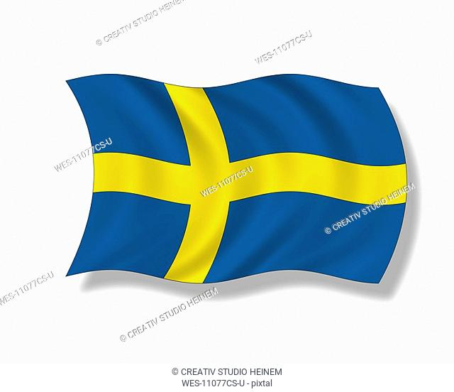 Illustration, Flag of Sweden