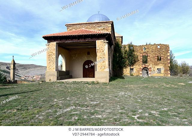 Villarroya de los Pinares, San Benon Hermitage. Alto Maestrazgo, Teruel province, Aragon, Spain