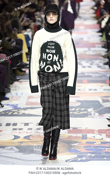 'ÄãChristian DIOR runway show during Paris Fashion Week, Pret-a-Porter Autumn Winter 2018 - 2019 collection - Paris, France 27/02/2018