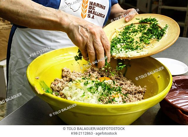 Casserole de porc, Porc pan casserole of the last days llucmajor, migjorn, Balearic Islands, Spain, Europe