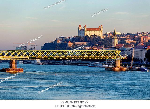 Bratislava, construction of the new bridge, Slovakia