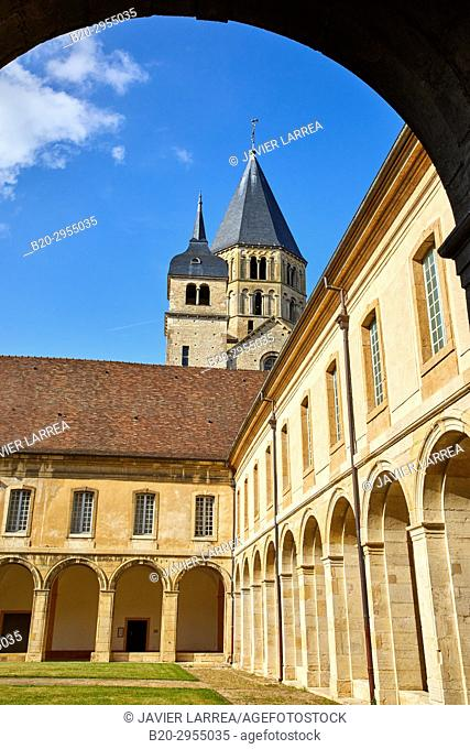 Cluny Abbey, Cluny, Saone-et-Loire Department, Burgundy Region, Maconnais Area, France, Europe
