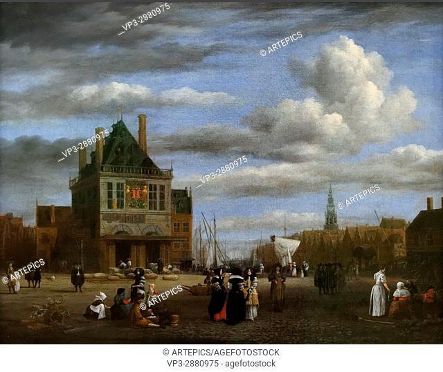 Jacob van Ruisdael - Dam Square in Amsterdam - 1680 - XVII th Century - flemish School - Gemäldegalerie - Berlin