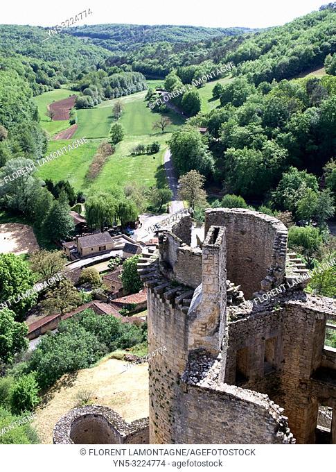 tour et nature, village, france, lot-et-garonne, chateau de bonaguil médiéval