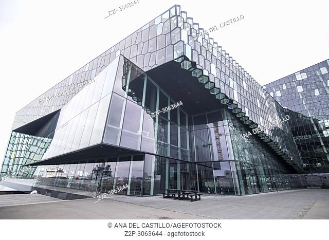 Concert hall harpa at night Stock Photos and Images | age fotostock