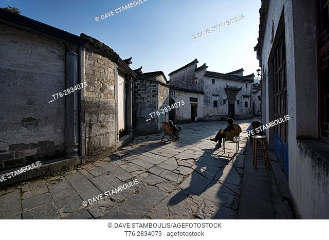 Life in the ancient village of Xidi, Anhui, China