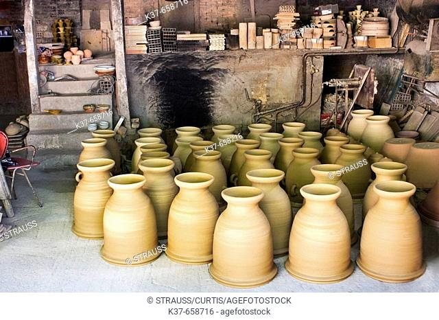 Pottery in French village