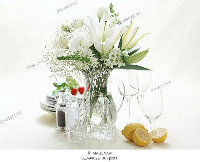 Tableware and Flower