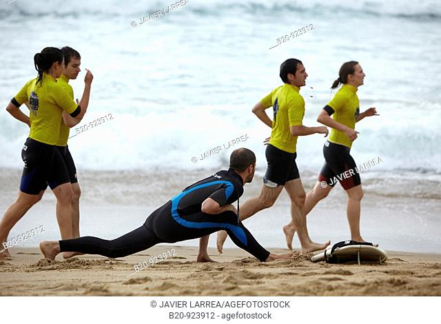 Surf, Zurriola beach, Donostia, San Sebastian, Gipuzkoa, Euskadi, Spain