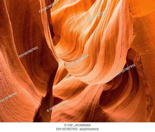 Abstract shapes of Antelope Canyon, Arizona, USA