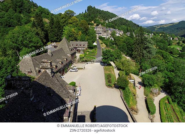 The Castle of Anjony , Tournemire, Cantal, Auvergne, France, Europe