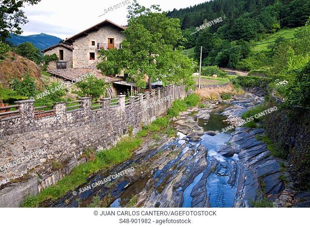 Arnauri river in Orozko. Vizcaya. Basque Country. Spain