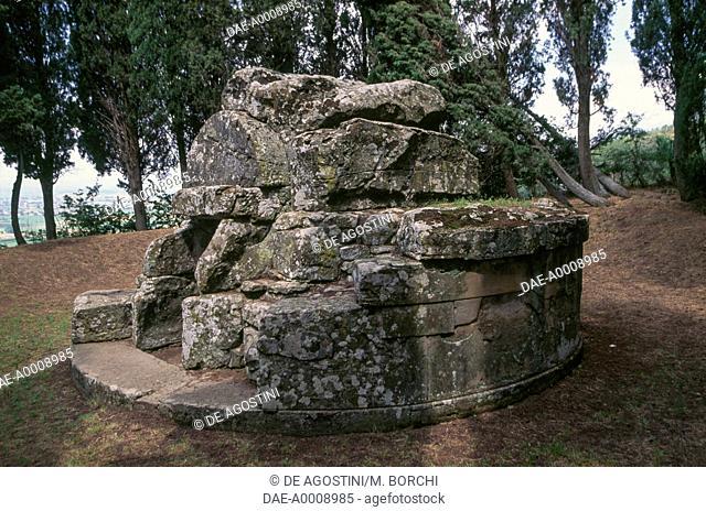 Grotto of Pythagoras (Tanella di Pitagora), Etruscan hypogeum, Cortona, Tuscany, Italy, Etruscan civilization, 2nd century BC