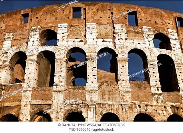 The Colosseum, originally the Flavian Amphitheatre, Rome, Lazio, Italy, Europe