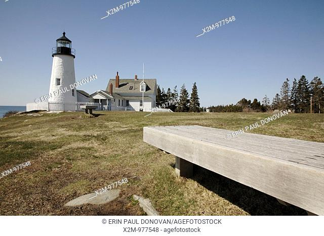 Pemaquid Point Light during the spring months  Located in Bristol, Maine USA, which is on the New England seacoast  Notes: This light is located at the entrance...