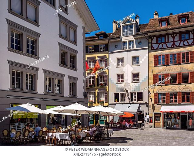 The picturesque city of Lucerne at the Lake Lucerne, Switzerland, Europe