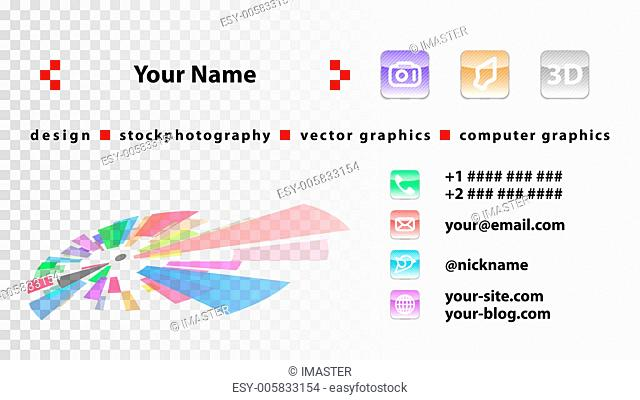 Template designer business cards