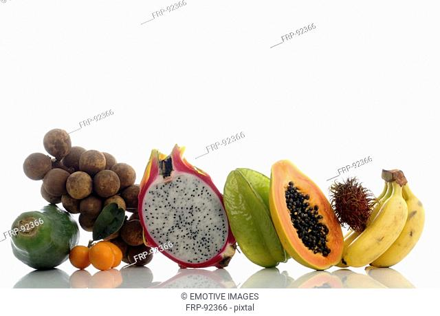Tropical fruits side by side