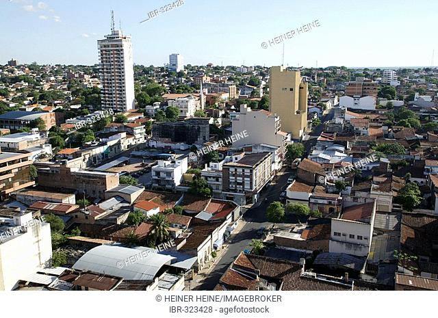 View onto the inner city of Asuncion, Paraguay, South America