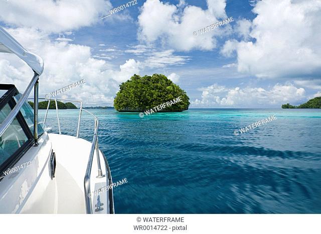 Boat Trip through Rock Islands, Pacific, Micronesia, Palau