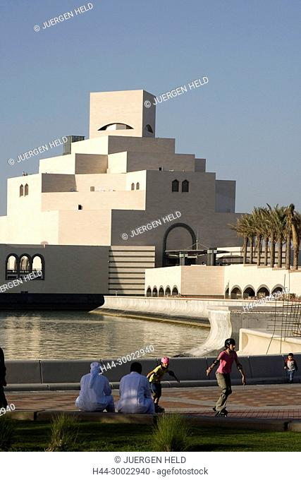 Museum of islamic art by famous architect I.M. Pei at the promanade of Doha corniche