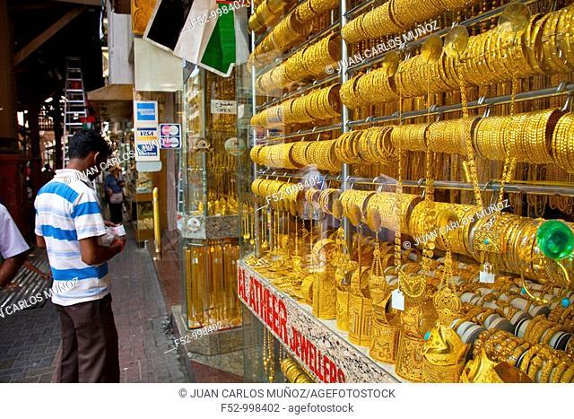 Gold Souk. Dubai Emirate. EAU. Persian Gulf. Arabia