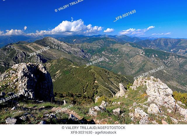 Summit of Mont Ferion, Alpes-Maritimes, 06, Cote d'Azur, PACA, France