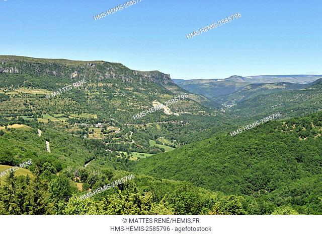 France, Lozere, the Causses and the Cevennes, Mediterranean agro pastoral cultural landscape, listed as World Heritage by UNESCO