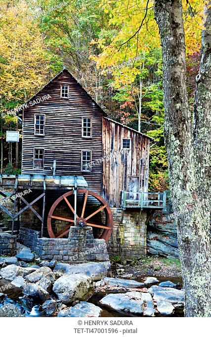 West Virginia, Babcock State Park, Old wooden mill