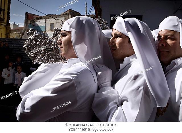 Holy Week procession. Malaga. Andalusia. Spain