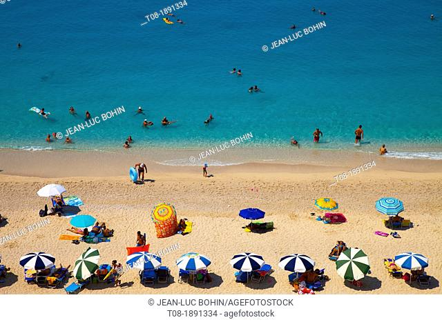 Greece, Ionian, Lefkada, Egremni beach