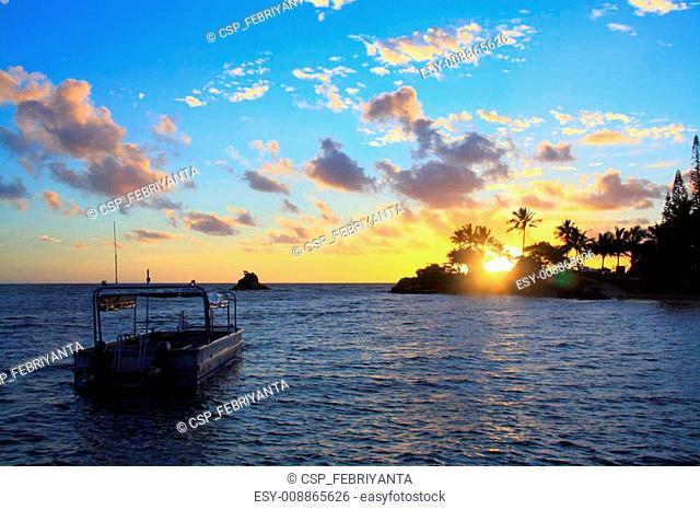 Sunset Boat at Noume New Caledonia