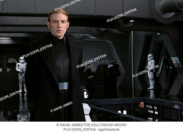 """""""Star Wars: The Last Jedi"""" (2017) General Hux (Domhnall Gleeson) Lucasfilm Ltd"
