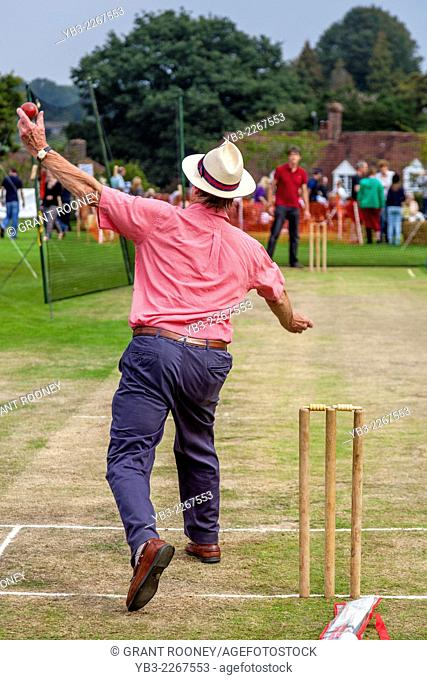 Hit The Wicket (A Traditional Game) Being Played, Hartfield Village Fete, Sussex, England