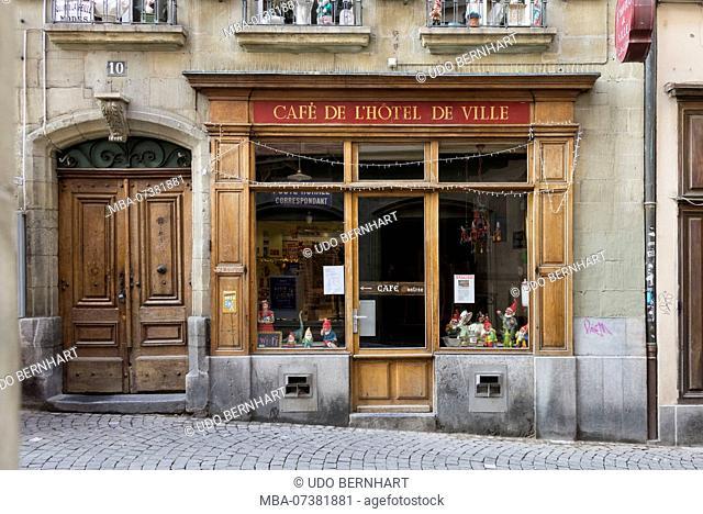 Café de l'Hôtel de Ville, Place de la Palud, Lausanne, Canton of Vaud, Western Switzerland, Switzerland
