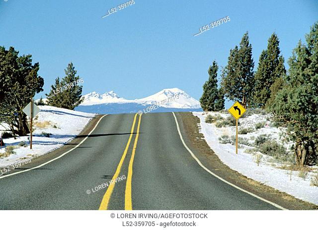 Highway. Bend. Oregon. USA