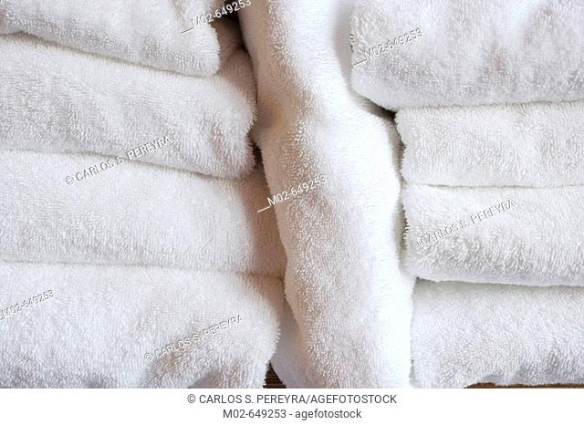 Towels in a spa