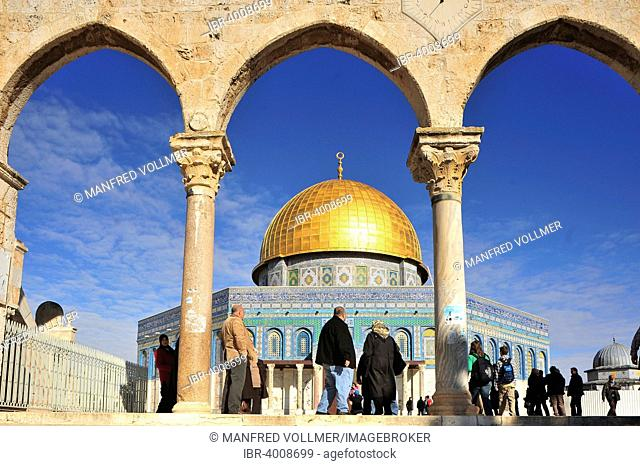 The Dome of the Rock, one of the main sanctuaries of Islam, Temple Mount, Old City, Jerusalem, Israel